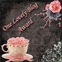"""the """"one lovely blog"""" award."""