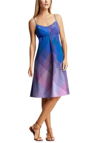 madras a-line dress
