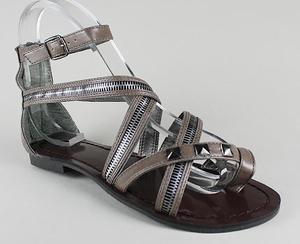 zipper stud toe strap sandal in taupe, gojane.com.